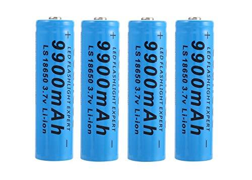 BateríA Azul 18650 De 4 Piezas, BateríA De Iones De Litio Recargable De 9900 mAh 3,7 V, BateríA Inteligente úTil, BateríAs De Precarga, Para Pilas Acumuladoras De Iones De Litio De Linterna LED