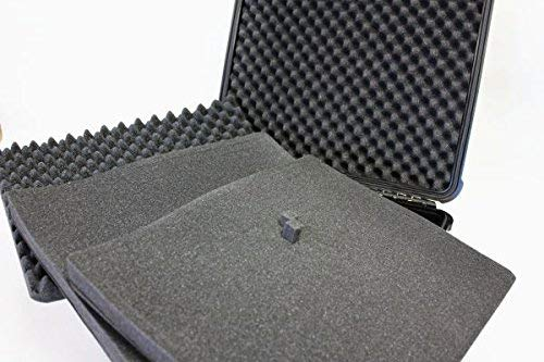 アタッシュ型ガンケースハードタイプ18L防水【40サイズブラック430×380×154mm】細かいキズ有りプラスチック鍵なしブロッククッション持ち運びサバゲ―イベント収納保管AG-8460