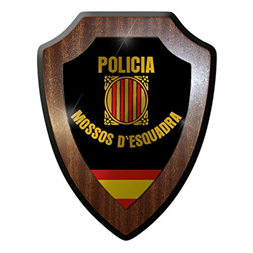 Escudo de # 8836/de pared escudo Policia Mossos d 'esquadra Policía Escudo de España, Cataluña insignia geschwaderjungs- # 12647
