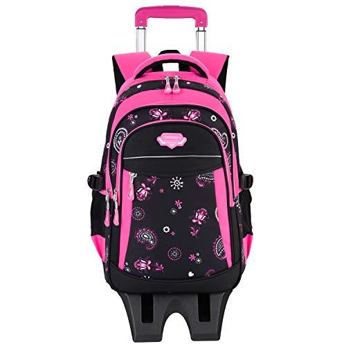 Fanspack Trolley Rucksack, Schultrolley Schulrucksac Trolley Kinder Schulranzen Trolley Kinderkoffer Trolley Tasche für Mädchen Jungen Treppensteigen Dreirad Kinder Trolley-Tasche