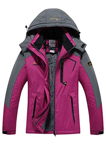 CORAFRITZ Damen 3 in 1 Jacke Wasserdicht Skijacke Fleece Gefüttert Kapuzenmantel,Atmungsaktive und Warme Regenjacke für Winter Ski Sports Damen Outdoorjacke Wasserdicht Windjacke Leicht