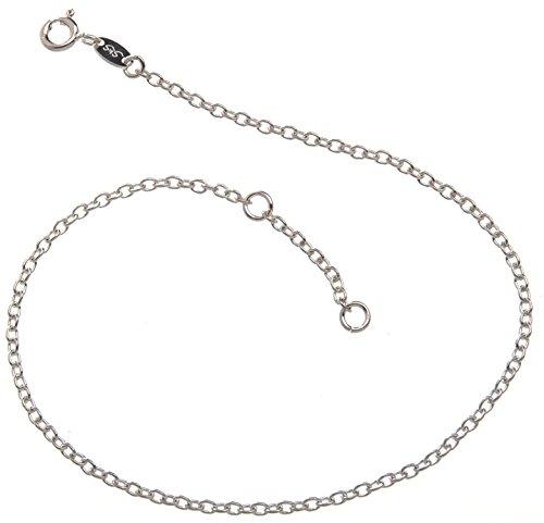 Silberketten-Store Cavigliera in vero argento 925, larghezza: 2,2mm, lunghezza: 23- 30cm, Argento, cod. FKErbse2,2/24