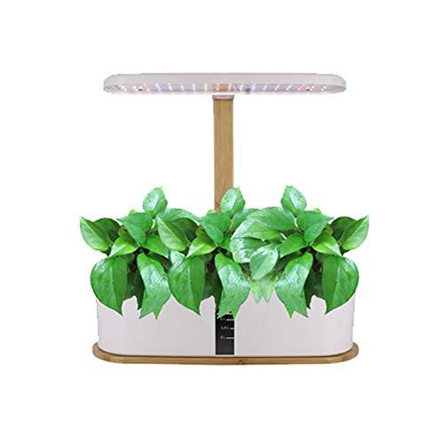 Vogvigo, sistema di coltivazione idroponica, 10 cialde, kit da giardino per interni, con luce LED, regolabile in altezza, sistema intelligente di circolazione dell'acqua, vaso da giardino intelligente