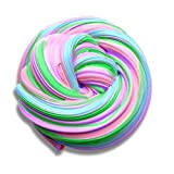 Fluffy Slime Floam Jumbo Cloud Multicolor Slime Extra Large Stress Relief Fluff Slime Foam Super Soft and Non-Sticky for Kids and Adults, Rainbow 4 Colors 7 OZ