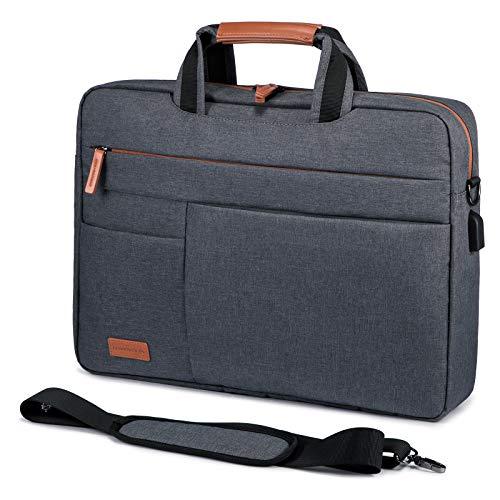 Laptop Tasche 15.6 Zoll Notebook Tasche 15.6 Zoll LOVEVOOK Wasserdicht Aktentasche Herren Schultertasche Macbook Tasche 15-15.6 Zoll Business Taschen Herren Dunkelgrau