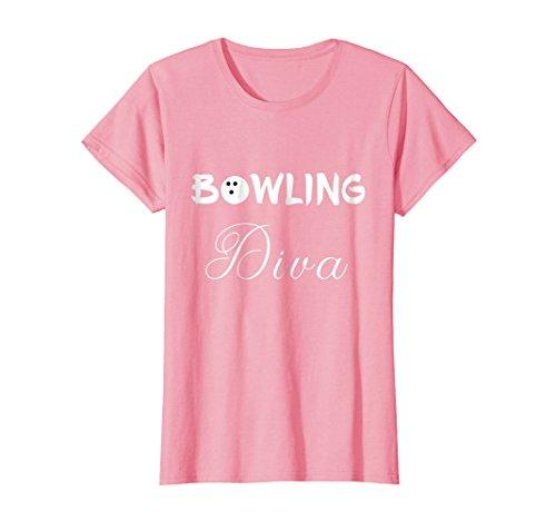 Womens Bowling Diva Ball Tshirt Medium Pink