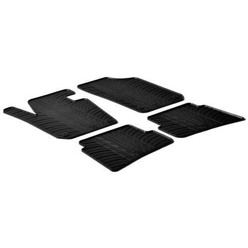Gledring Set tapis de caoutchouc compatible avec Seat Ibiza 6J 2008-2017 (T profil 4-pièces + clips de montage)