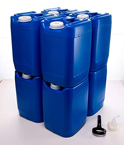 PriorityPour Tight Head - 5 Gallon / 20 Liter Blue Eight (8) Pack...