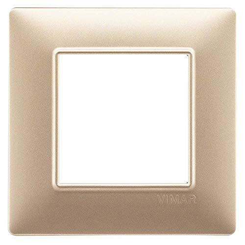 Vimar Serie piatto–Placca 2Modulo Tecnopolimero Spumante opaco