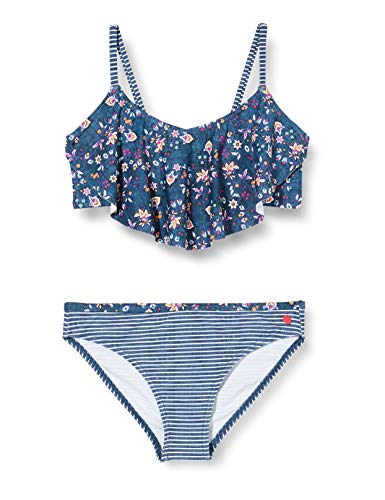 ESPRIT LONG BEACH YG       bandeau+brief Bikini-Set, Mädchen, Blau 140/146
