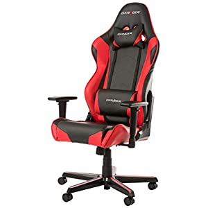 DX Racer OH/RZ0/NR – Asiento de Gaming Negro/Rojo