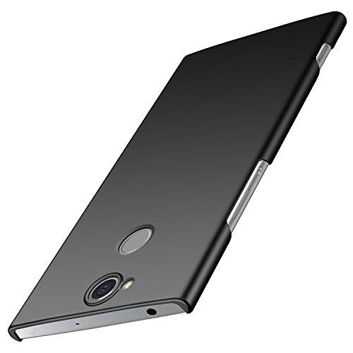 anccer Sony Xperia XA2 Plus Hülle, [Serie Matte] Elastische Schockabsorption & Ultra Thin Design für Sony XA2 Plus (Nicht für Sony XA2) (Glattes Schwarzes)