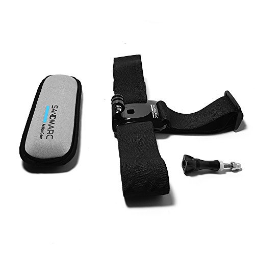 SANDMARC Floating Headstrap Mount for GoPro Hero 7, Hero 6, Hero 5, Hero 4, 3+, 3 and HD Cameras. Keeps Your GoPro afloat When Surfing, Kiteboarding, Jet Skiing and Wakeboarding.