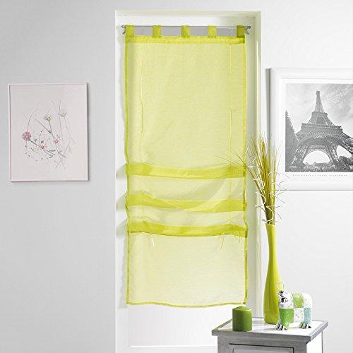 douceur d'intérieur 1623685 Lissea Store Forme Droite Voile Sable Polyester Menthe 180 x 45 cm