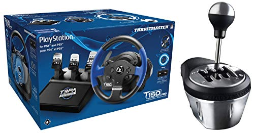 Thrustmaster T150 PRO | Racing Game Wheel | Force Feedback | PC/PS3/PS4 + Thrustmaster VG Th8 A Add On Gearbox Shifter for PC, PS3, Ps4 and Xbox One
