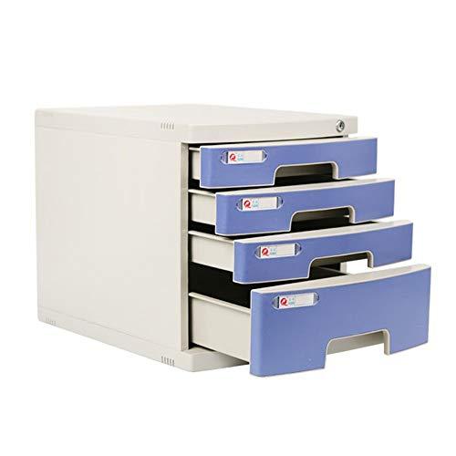 MxZas Bureau-archiefkast van kunststof met slot lade archiefkast A4 Papier Folder Organizer kantoor opbergdoos