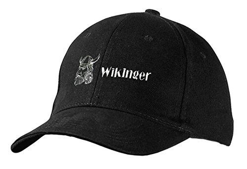 Fan-O-Menal Baseballcap mit Einstickung - Wikinger - 68396 schwarz - Cap Kappe Baumwollcap