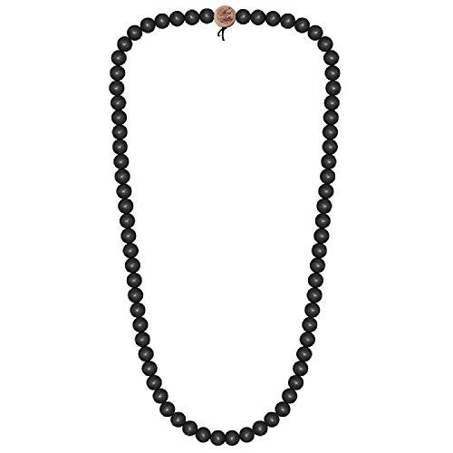Wood Fellas Deluxe Pearl Necklace Kette Black, Bla