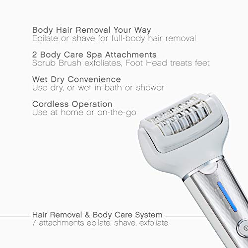 Panasonic Cordless Shaver & Epilator for Women With 7 Attachments