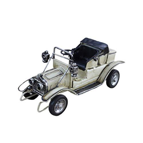 Hzkj-lym Desktop Crafts Antike Vintage Auto-Modell-Metall-LKW-Hauptdekoration Metallweinlese-Auto-Verzierungen Sammlungen Sammlerfahrzeugmodell (Color : White)