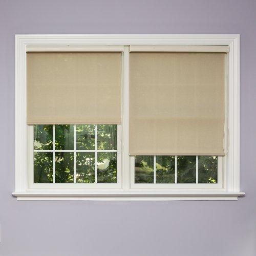 home fashion shades Best Home Fashion Closeout Premium Linen Look Roller Window Shade -Mushroom - 33 7/8