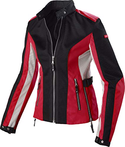 Spidi Summer Net dames textiel jas L Zwart/Rood
