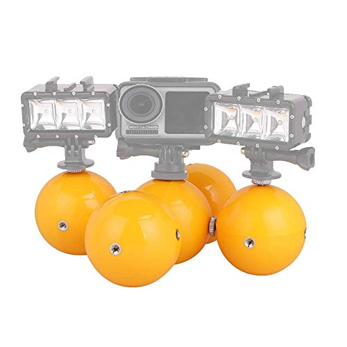 Linghuang Zwemballen voor DJI Osmo Action Camera, met adapters voor onderwatercamera, zwemmers met armband, adapterschroeven, 5 ballons flottants