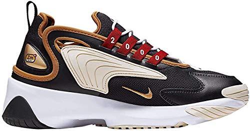 Nike WMNS Zoom 2k, Chaussures de Running Femme, Noir (Black/Metallic Gold/White/Sail 005), 37.5 EU