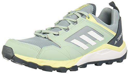 adidas Damen Terrex Agravic Tr W Leichtathletik-Schuh, Dark Grau S18/ FTWR Weiss/Gelb, 40 EU