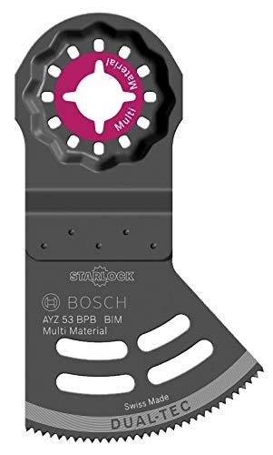 Bosch Professional 10 Stück Sägeblatt Starlock AYZ 53 BPB Dual-Tec (für Holz & abrasive Materialien, Zubehör Multifunktionswerkzeug)