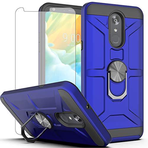 AYMECL LG Stylo 4 Case,LG Stylo 4 Phone Case,LG Q Stylus Case,LG Stylo 4 Plus Case with HD Screen Protector,360°Rotation Ring Holder Military Grade Shockproof Phone Case for LG Stylo 4-WA Blue