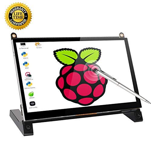 Touchscreen Monitor, 7 Inch Portable USB Monitor Raspberry Pi Touch Screen IPS Display Computer Monitor 1024X600 16:9 HDMI Game Monitor for Pi 4/3 /2/ Zero/B Raspbian Ubuntu Xbox /PS4 Mac