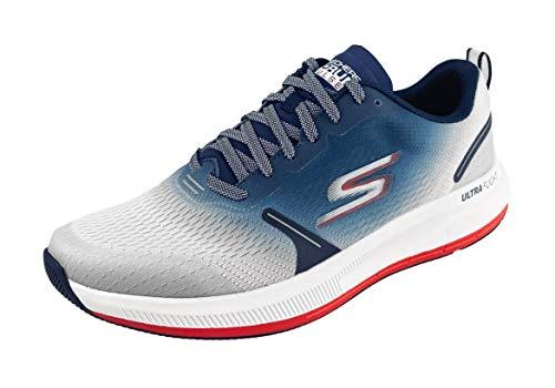 Skechers mens Go Run Pulse - Performance Running & Walking Shoe Sneaker, White/Multi, 11.5 US