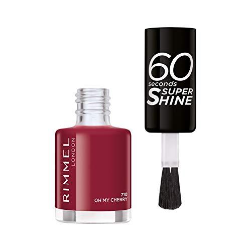 Rimmel London 60 Seconds Super Shine 710-Oh My Cherry - 1 Unidad