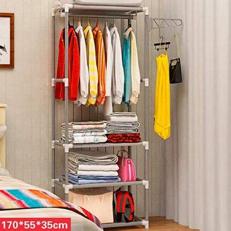 Vivavivo1234 Standing Coat Rack Simple Metal Iron Coat Rack Floor Standing Clothes Hanging Storage Shelf Clothes Hanger Racks Bedroom Furniture HH347600CS2