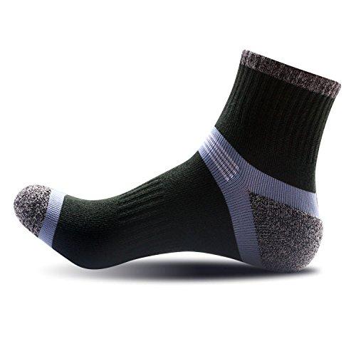 TIANTING 5 pares de calcetines para hombres siesta al aire libre escalada calcetines de tacón calcetines de baloncesto en tubo calcetines para hombres, verde militar, talla única
