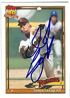 Autograph 124513 San Diego Padres 1991 Topps No. 683 Derek Lilliquist Autographed Baseball Card
