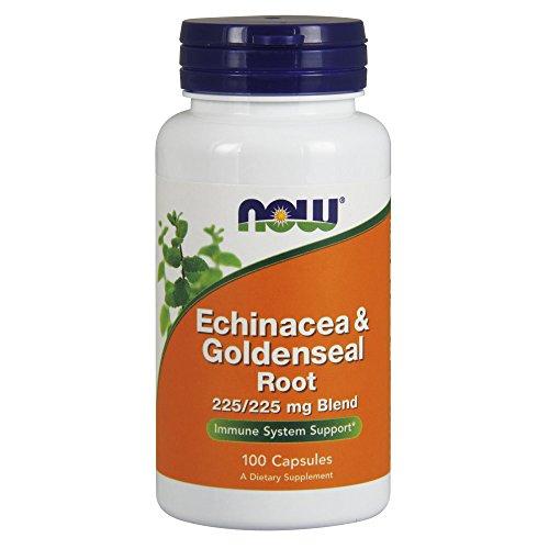 Now Foods | Echinacea und Gelbwurzel | 100 Kapseln | glutenfrei
