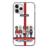 iPhone12 / iPhone12Pro iPhoneケース ハードケース [ミラー付き/カード収納/耐衝撃] WE LOVE BEKS (ホワイト) アイフォンケース スマホケース 携帯電話用ケース CollaBorn Soccer Junky (サッカージャンキー)