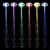 Cosanter 10 Stück Laterne Leuchtende Seide Geflecht Faser Filament Zöpfe Haarnadel LED Leuchtet...