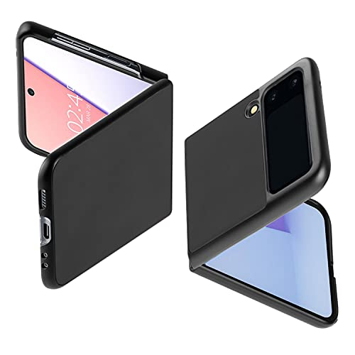 NEWZEROL Hülle Kompatibel für Samsung Galaxy Z Flip 3 5G, [Sanfte Berührung] [Unterstützung für Kabelloses Laden] [Leicht] Hybrid Stoßfeste PC Schutzhülle für Samsung Galaxy Z Flip 3 5G - Schwarz