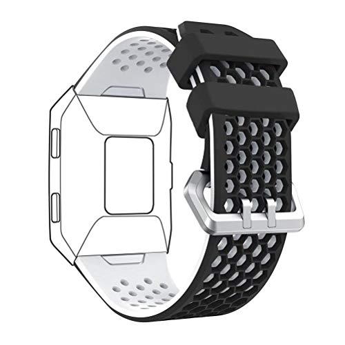 DD per Fitbit Ionic Cinturino, Regolabile Morbido Silicone Sportiva Banda Sostituzione Accessorio per Fitbit Ionic Orologio
