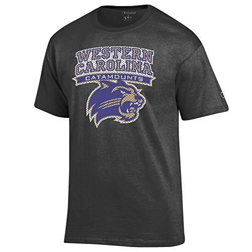 Western Carolina Catamounts Heather Granite WCU Logo T-Shirt (Medium)