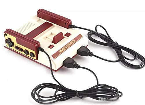 SKAL TV Spielekonsolen Retro Classic Mini, Spielkonsole Built-in Klassische Spiele, HDMI TV Output mit Zwei Joystick Controller, 8bit Entertainment System (600 Red&White)