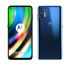 "moto g9 plus Dual-SIM Smartphone (6,8""-CinemaVision-FHD+-Display, 64-MP-Vierfach-Kamerasystem, 128 GB/4 GB, Android 10) Dunkelblau inkl. Schutzcover und KFZ-Adapter [Exklusiv bei Amazon] © Amazon"