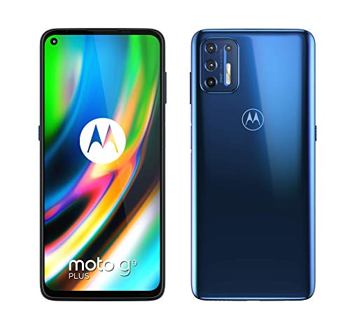 "Motorola Moto G9 Plus - 6.81"" Max Vision FHD+, Qualcomm Snapdragon 730G, 64MP quad camera system, 5000 mAH batería Dual SIM, 4/128GB, Android 10 - Color Azul"