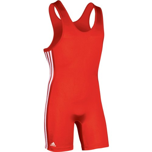 adidas Wrestling Lehigh Singlet, Rojo/Negro