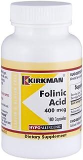 Folinic Acid 400 mcg, 180 capsules - Hypoallergenic
