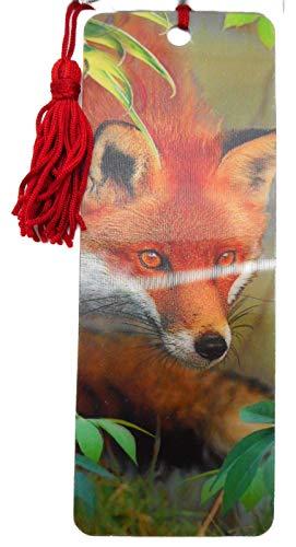 Lesezeichen Fuchs Rotfuchs Wald Tier 15,5 cm Design Bookmarks mit Kordel Deko GG 3604