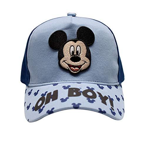 Disney - Gorro de béisbol con diseño de Mickey Mouse con visera curvada, ajustable